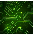 Technology background with circuit board elements vector image vector image