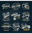Various Fashion Labels on Dark Green Background vector image vector image