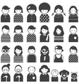 Various People Symbol Icons Family Set vector image vector image