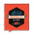 vintage adventure badge design vector image vector image