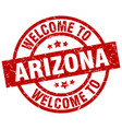 welcome to arizona red stamp vector image vector image