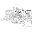 what is dow theory text word cloud concept vector image vector image