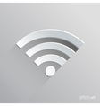 Wifi Connection Flat Icon Design vector image vector image