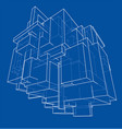 wireframe boxes sketch style vector image