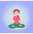 woman cartoon Yoga pose skill vector image