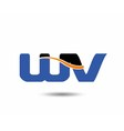 WV company linked letter logo vector image vector image