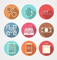Flat icons for e-commerce vector image