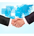 handshake with map vector image