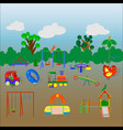 set of elements for a playground vector image
