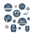 Typography design of travel and cruise tours vector image