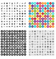 100 family camping icons set variant vector image vector image