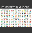 180 complex flat icons concept symbols of vector image vector image