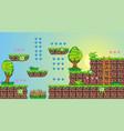 2d tileset platform game 7 vector image vector image