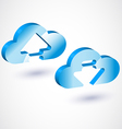 3d cloud upload vector image vector image