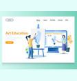 art education website landing page design vector image