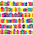 Background with colored doodle houses vector image
