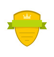 badge soldier icon flat style vector image vector image
