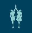 ballet dancers sign vector image vector image