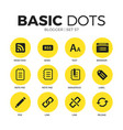 blogger flat icons set vector image vector image