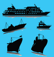 boats silhouette vector image vector image