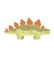 cartoon stegosaurus dinosaur character jurassic vector image vector image