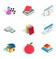 chemistry icons set isometric style vector image vector image