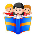 childrens reading big book vector image vector image