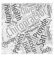 chiropractor san francisco Word Cloud Concept vector image vector image