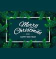 christmas tree branches template merry christmas vector image vector image