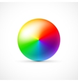 colorful 3d ball on white background vector image vector image