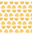 cute cracked eggs seamless vector image vector image