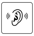 ear sign - silhouette vector image vector image