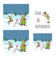 find 6 differences educational game for children vector image vector image