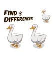 Find differences game goose vector image vector image