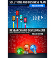 Flat Style Design Concepts for business strategy vector image vector image
