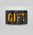 gift card template is black with orange text at vector image vector image