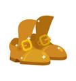 golden shoes precious footwear fashion royal vector image vector image