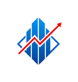graph arrow business finance logo vector image