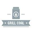 grill coal logo simple gray style vector image vector image