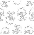 hand draw broccoli pattern style vector image