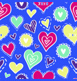 hearts pattern love new-05 vector image vector image
