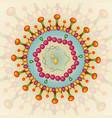 hepatitis b virus background eps 10 vector image vector image