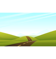 Hill Road vector image vector image