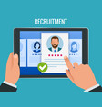 hiring and recruitment concept for web page vector image