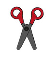 isolated scissors icon image vector image vector image