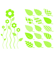 leaf elements vector image
