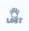 Lost dog sign sketch icon vector image