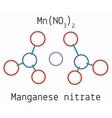 Manganese nitrate MnN2O6 molecule vector image vector image