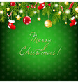 Merry Christmas Silver And Blue Composition vector image vector image
