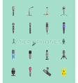 Microphone Set Design Flat Isolated vector image